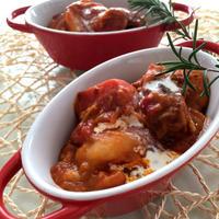 圧力鍋で超簡単♡豚スペアリブのトマトシチュー