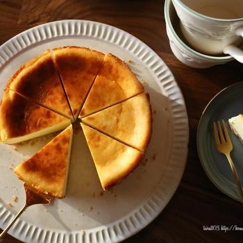 ベイクドチーズケーキとお久しぶりベーグル❁