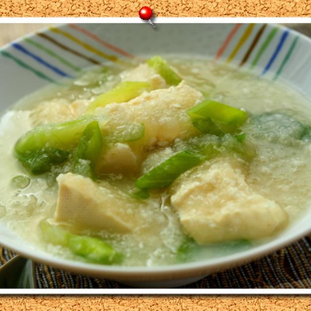 豆腐とネギのみぞれ餡煮。