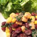 きのうのおつまみ  小豆ととうもろこしのサラダ by endocoさん