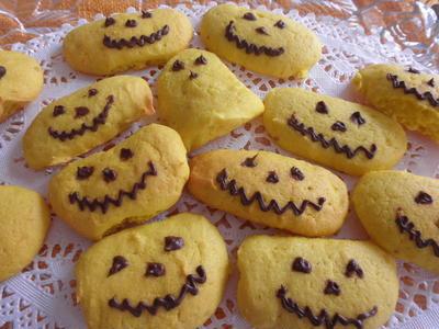 カボチャでハロウィーンクッキー
