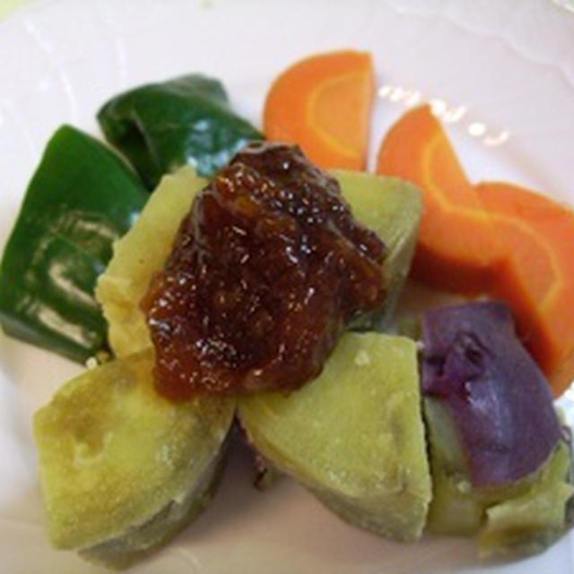 蒸し野菜&唐辛子みそ