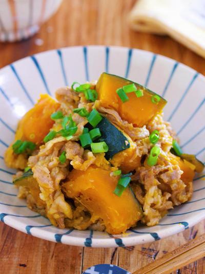 鍋に重ねて放置で10分♪煮汁不要で旨み凝縮♪『甘辛♡豚肉とかぼちゃの重ね蒸し』