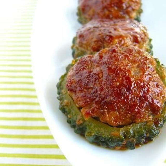 丸コロッ!ゴーヤの照り焼きハンバーグ♪ レシピブログ「夏野菜10レシピ」に掲載していただきました。