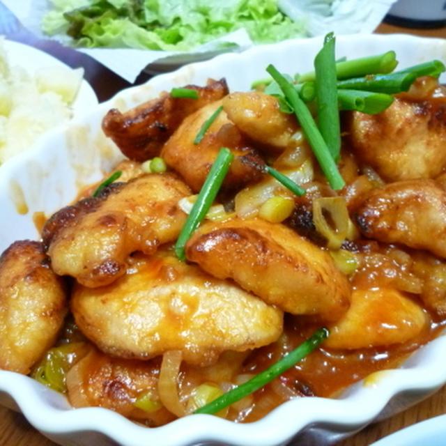 鶏のスィートチリソース煮