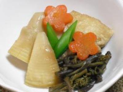 筍とわらびの煮物