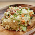 本日のお弁当「塩焼き鳥炒飯」