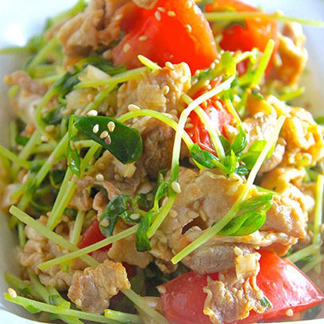 栄養満点!サラダだけど、ガッツリメイン級!『カリカリ豚バラと豆苗の中華サラダ』《簡単*節約》