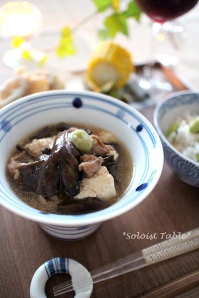 きのこたっぷり肉豆腐