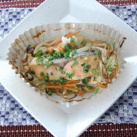 レンジで簡単鮭のチャンチャン焼き