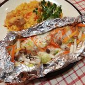 野菜たっぷり!鱈の一味ホイル蒸し