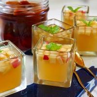 キューブなアップルブランデーゼリー! りんごのフルブラとりんごジュースで超簡単