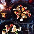 フルブラ柿の柚子茶パイ じっくりトマトのカルツォーネ by 青山 金魚さん