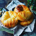 ちぎりパン色々~❤️と、流行りにのってみた♪ぐるぐる可愛いウールロールパン❤️