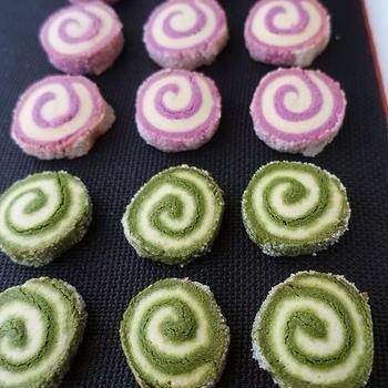 くるくるクッキー * 抹茶・紫芋
