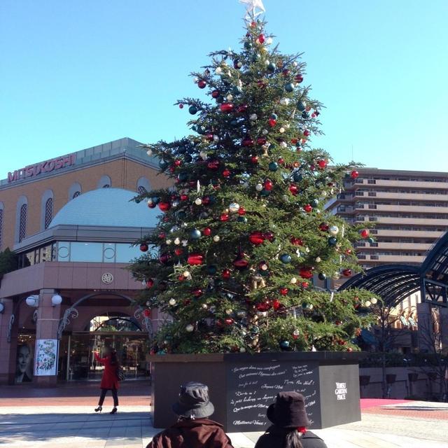 恵比寿ガーデンプレイスのクリスマスツリー&冷凍お好み焼き