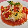 冷製パスタの食べたくなる季節☆彡【#カッペリーニ #冷製パスタ #トマト #バジル #夏野菜】