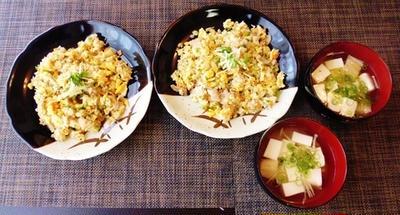 炒飯のぱらぱらはね☆シンプルで懐かしい炒飯♪~♪