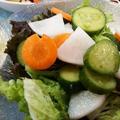 水キムチが美味しくなりました ~ 五香豆腐とイカゲソの炒め物