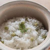 土鍋で豆ごはん