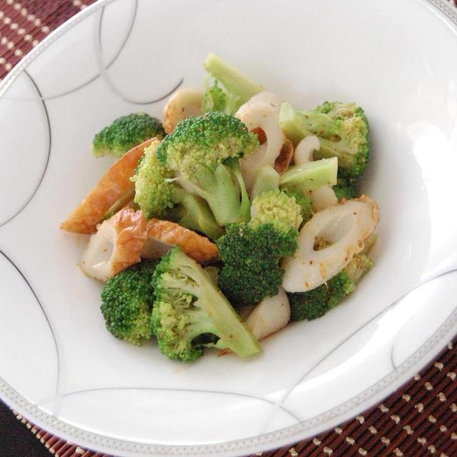 ブロッコリーと竹輪のピリポンサラダ