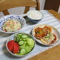 しょうゆの実とペンネ入りチャウダーと餃子の皮deピザでうちごはん(レシピ付) by やまがたんさん