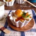 ごま味噌豆腐白玉だんご。ほっこり美味しいおやつ♡ 3歳児検診。
