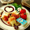 ♡うまソーストマトタイプde食べる♪皮なしウインナの竹輪巻き♡【簡単*お弁当おかず*おやつ】