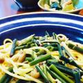 きのうのおつまみ  わらびのペペロンチーノスパゲティ by endocoさん