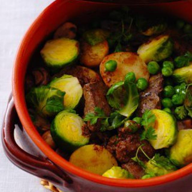 鶏レバーと春野菜のココット仕立て FOIE DE VOLAILLE,LEGUMES PRIMEUR EN COCOTTE