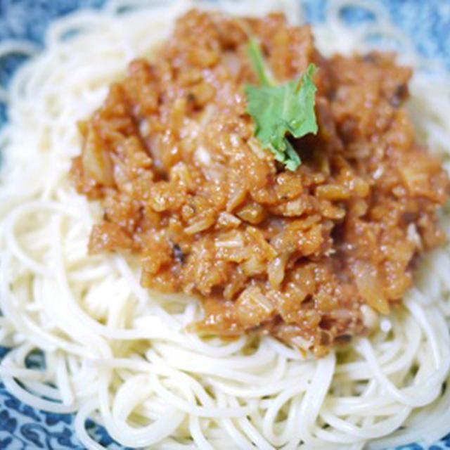 #129:焼米でミートソース