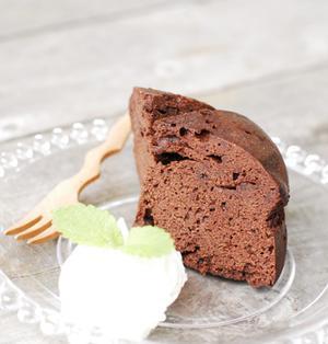 レンジで簡単!チョコケーキ!