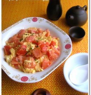 トマトと卵のふんわり中華炒め