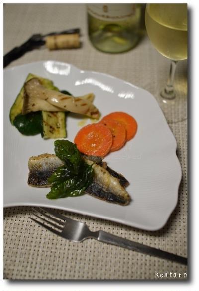ペパー香る秋刀魚のバジルオイル揚げ焼き