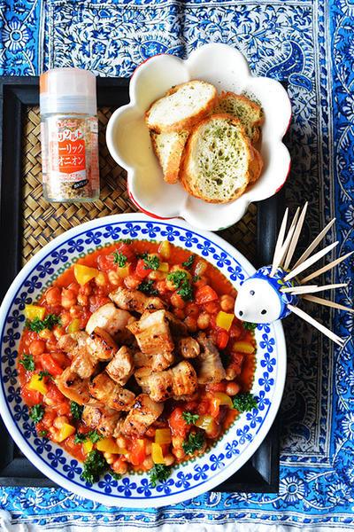 簡単美味しすぎ 8分でうちバル 豚バラ肉とひよこ豆のトマトソース & スパイスFB掲載のお知らせ