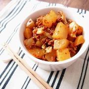 大根と挽き肉のカクテキ風マヨキムチ煮
