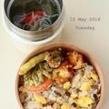 5月10日 火曜日 独活の天ぷら&干し鮑と鶏の炊き込みご飯