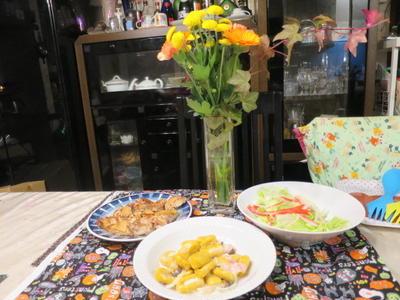 花と料理で楽しむ♪ハッピーハロウィン・簡単なのに本格派!!かぼちゃのニョッキ