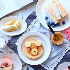 夏休みの朝ごはんにいかが?楽しく食べよう「#くまトースト」