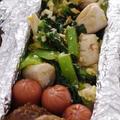 鶏ささみと小松菜の卵炒め弁当♪&天然石ロングネックレス~
