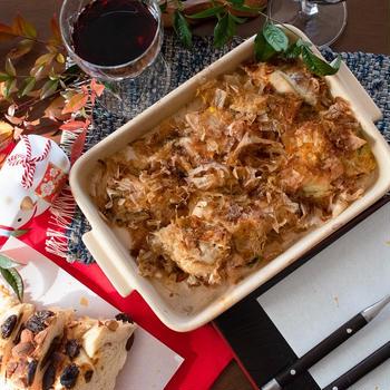 新年の食卓に☆花かつおでカキのグリル