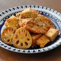 晩ごはんにもお弁当にもオススメ節約おかず♡鶏肉と厚揚げの和風ケチャップ炒め