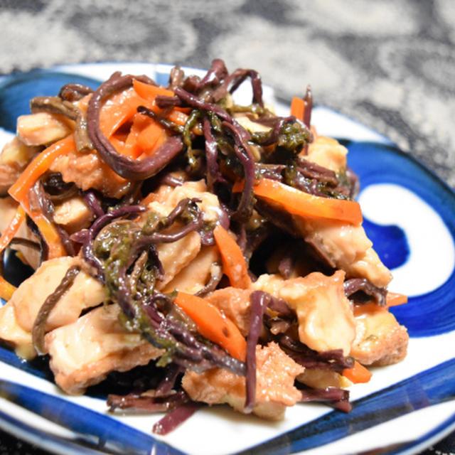 山菜と厚揚げの炒め煮。おかずにおつまみにお弁当に、な常備菜。