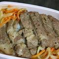 7月26日  豚厚切り肉の塩だれ焼き弁当