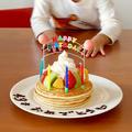 バースデーパンケーキ(誕生日ケーキ)の作り方 英語レシピ | 海外向け日本の家庭料理動画 #554 by オチケロンさん