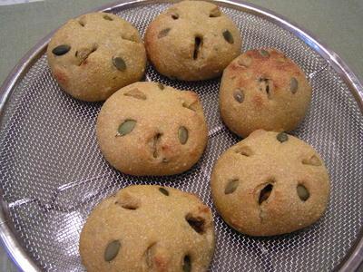 酒粕酵母第二弾!かぼちゃの味噌あんパン