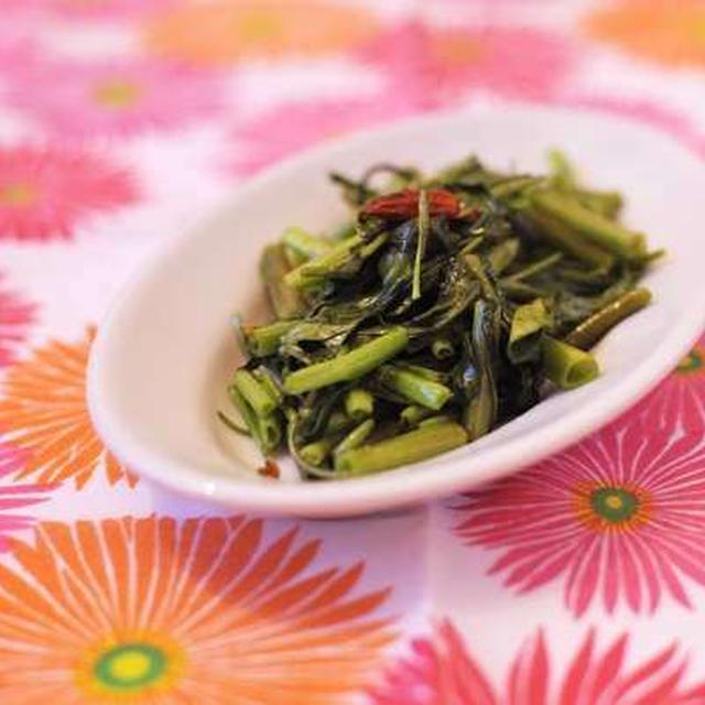 (まかない)ウンチェー(空心菜)の炒め物