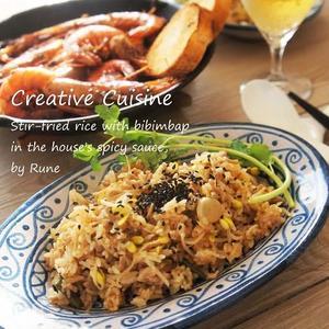ビビンバ風の炒めご飯