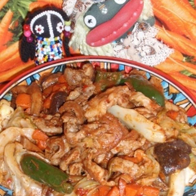 ピリ辛回鍋肉&もやしと干し海老の豆板醤ナムル(お家カフェ)