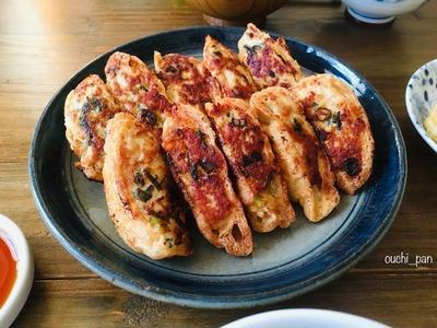 油揚げで簡単!鶏ひき肉とチーズの餃子風。